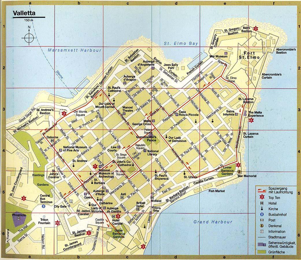 Malta gozo for Plan de malte